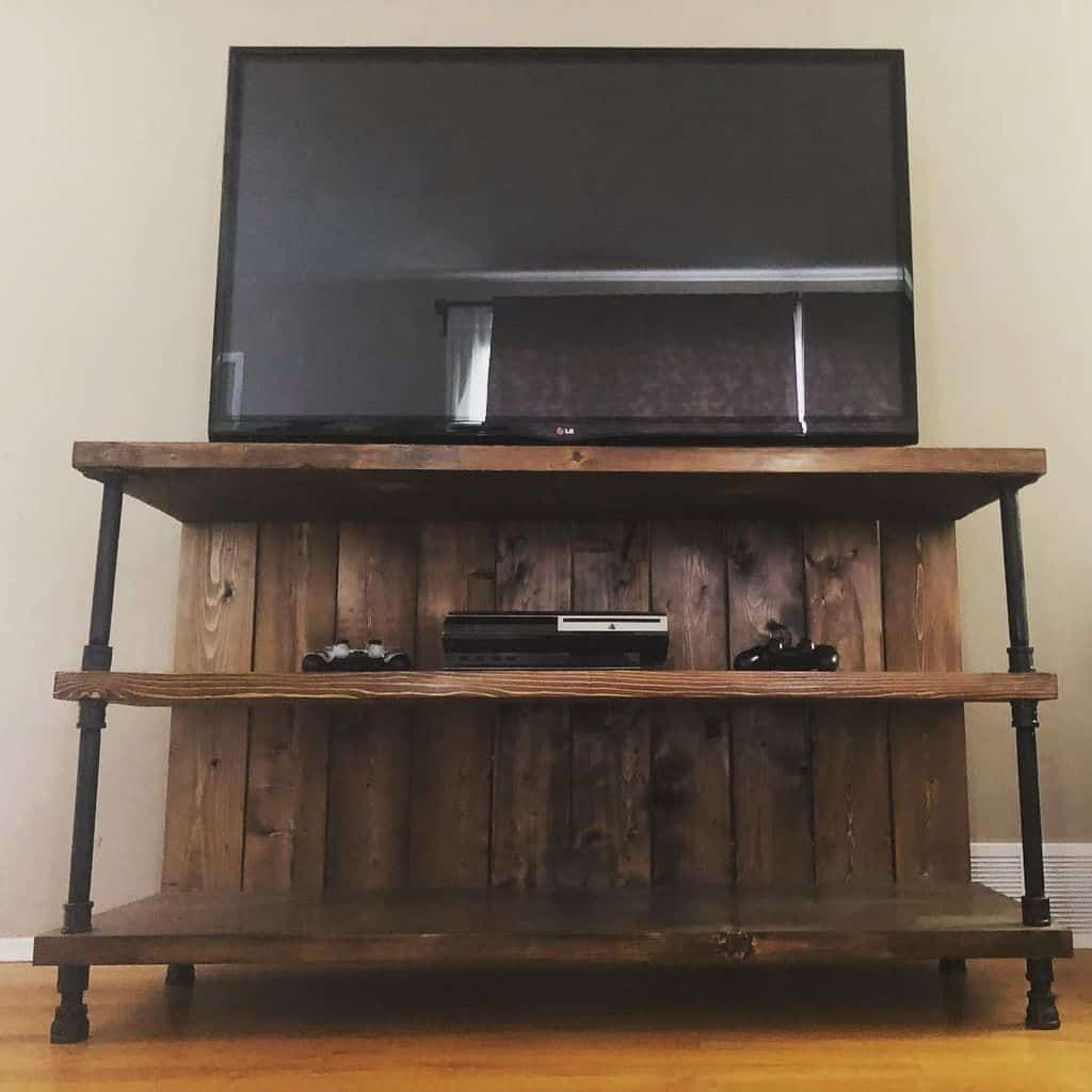 how to build a tv stand out of plywood