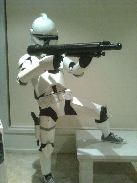 How To Make A Child S Clone Trooper Costume From Cardboard Cose
