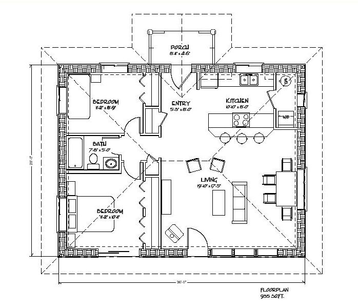cozy strawbale 935 sf plans - Designs For Homes