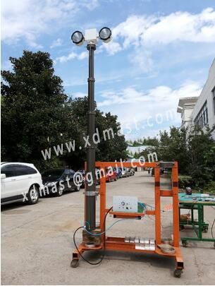 Vehicle Mounted Telescopic Mast Light Tower Telescoping Mast Light Pole Instrument