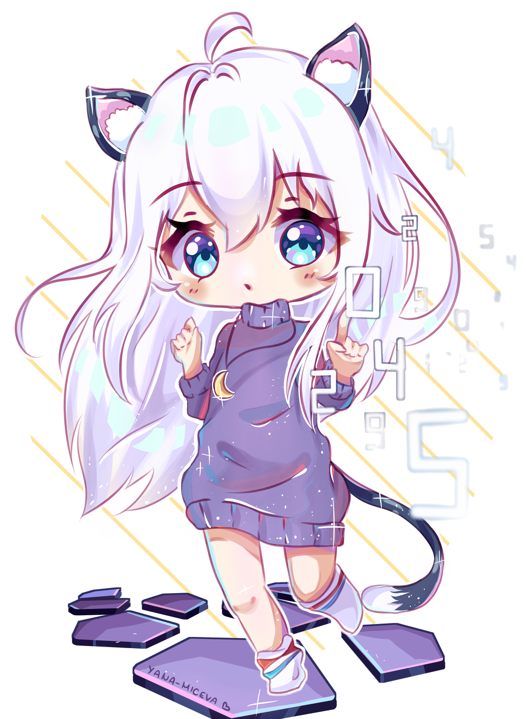 AT Kuuhaku by HyokoCchi Cute anime chibi, Cute kawaii