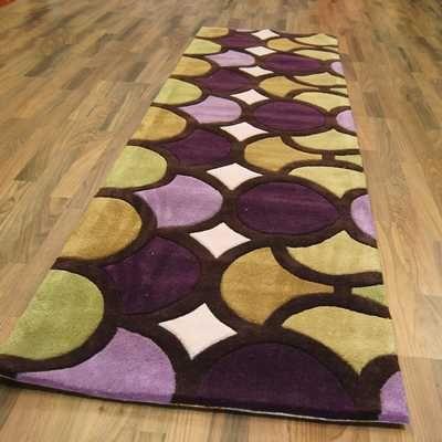 Ha10 06 Bubble Purple Green Hall Runner Rugs Buy Online At Modern Ugs Uk Great Design To Add Vibrant Colour To A With Images Hall Runner Hall Runner Rugs Rug Design