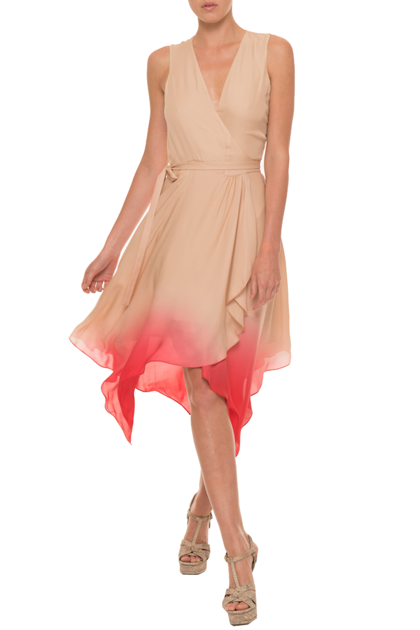 Wrap Ombre Dress with Handkerchief Hem   Stils kleitas   Stils ... c669c8fea4