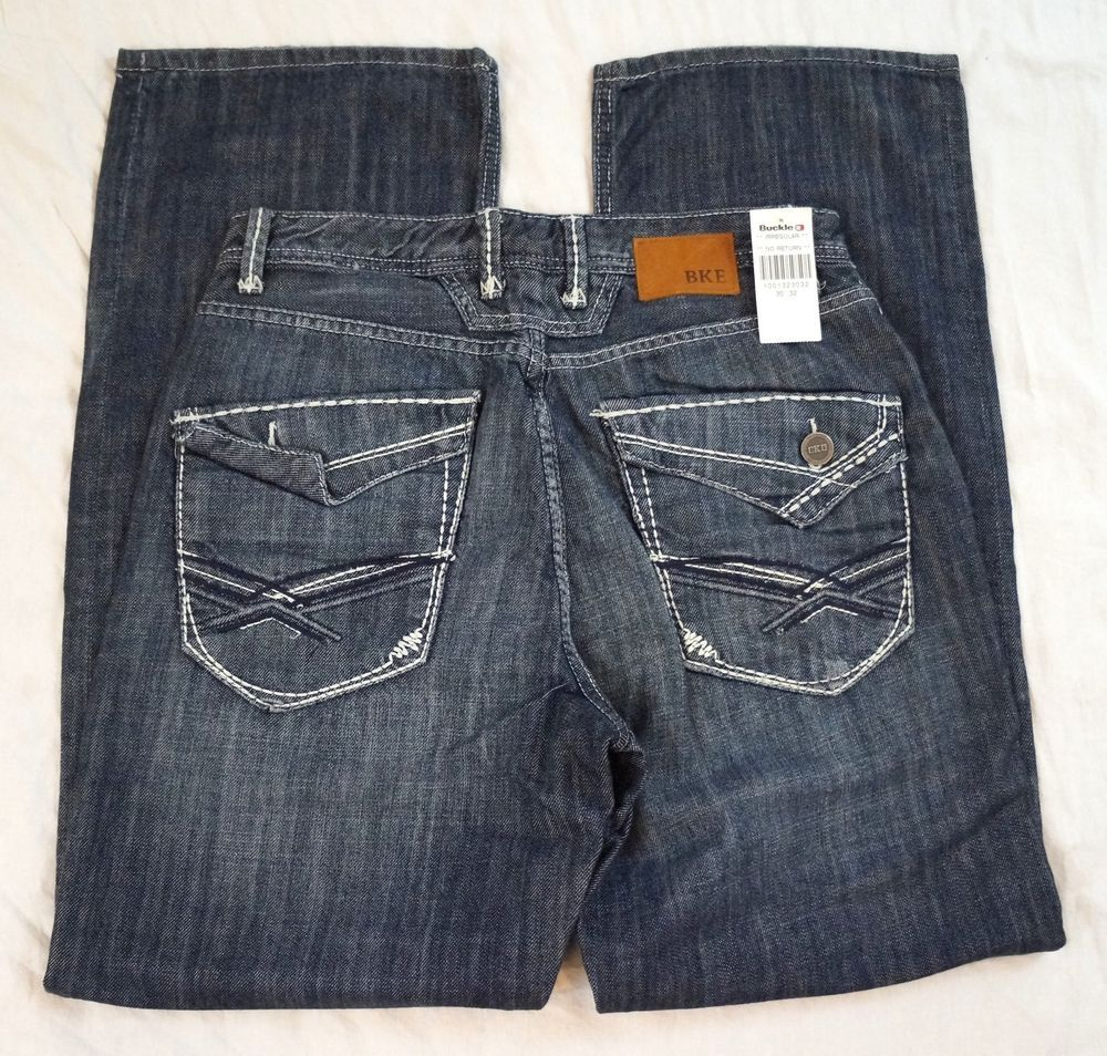 BKE Buckle Tyler Straight Leg Flap Pocket Mens Jeans Size 30 X 32 ...