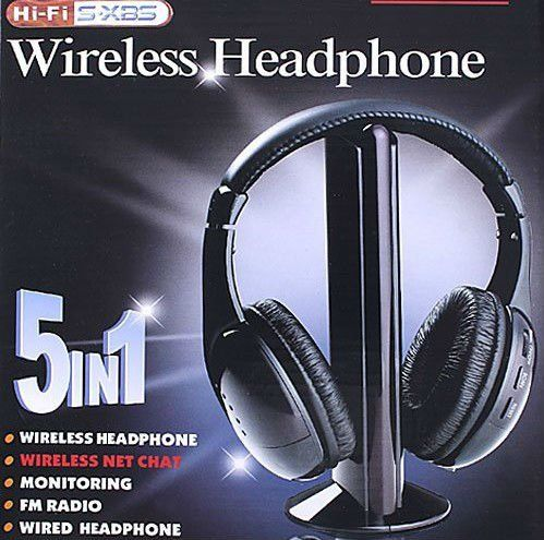 If you have trouble hearing the TV or Skype conversations? This for you. HIFI Wireless headphone Earphone Headset wireless Monitor FM radio for MP4 PC TV audio