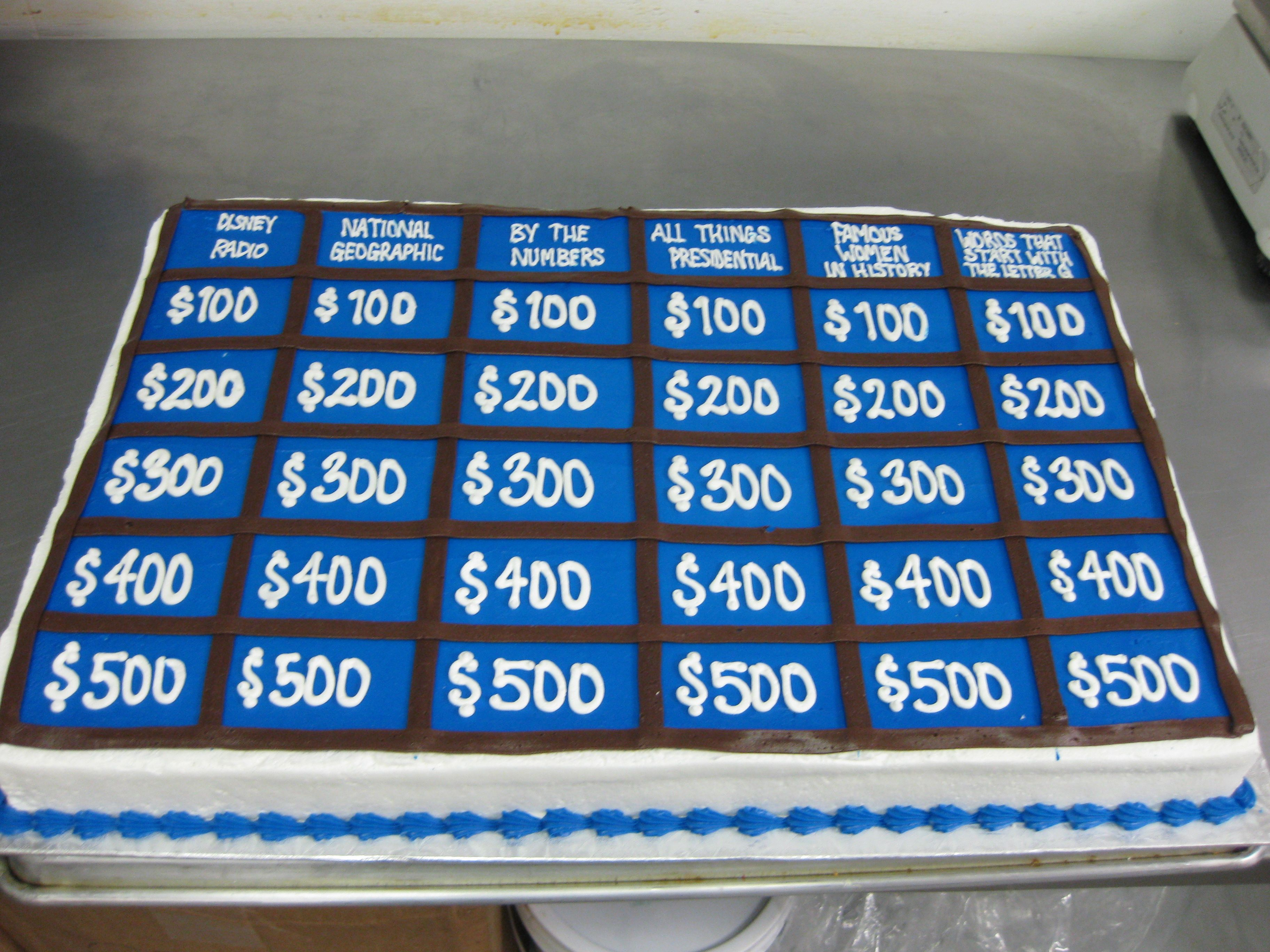 Jeopardy Cake Cakes I Ve Made In 2019 90th Birthday