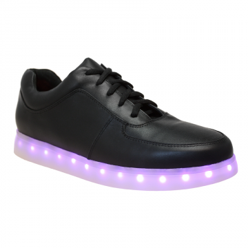 Irregular Choice State of Flux. Light up your life with a pair of our State of Flux trainers! In either white or black uppers with lights inset into the soles. There is a button to activate the lights on the inside of the shoe.