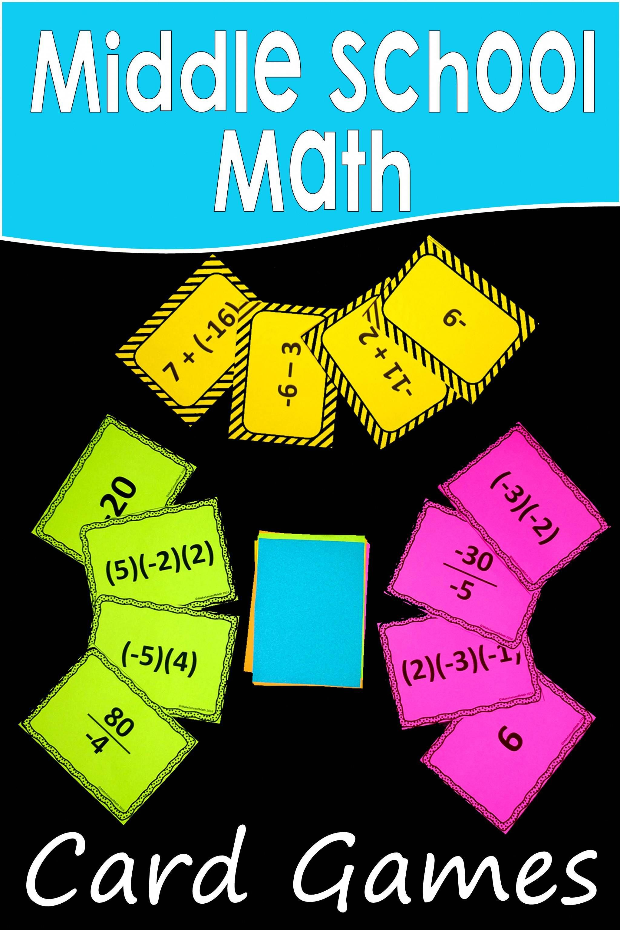 Great Activities To Practice Middle School Math And