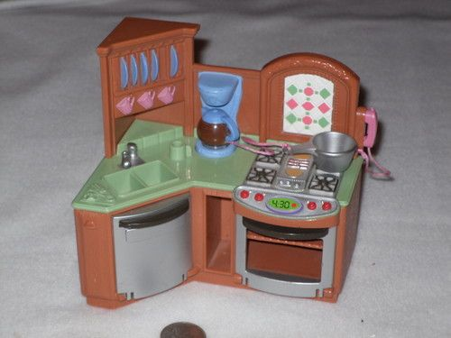 Fisher Price Sweet Sounds Loving Family Kitchen Sink Dollhouse Furniture Stove