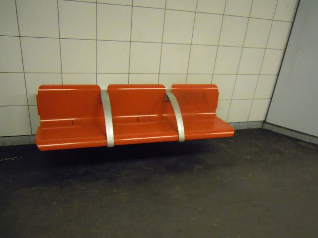 Wonderful Seat In A Subway Station Of Paris