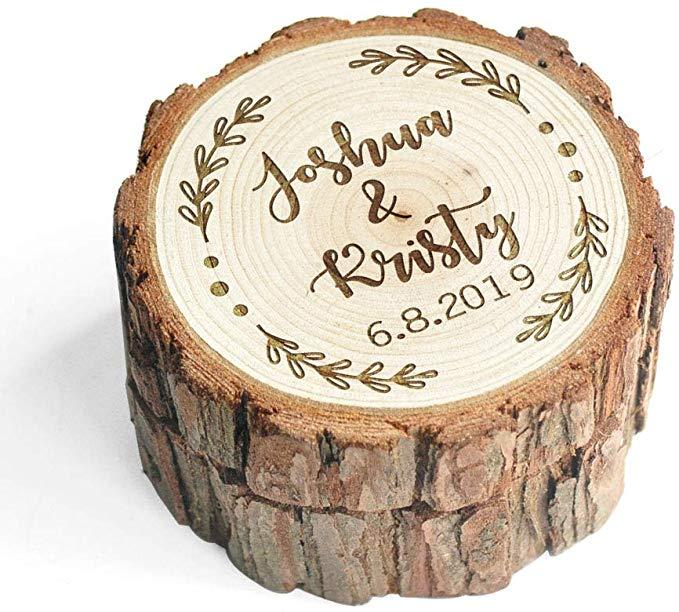 Amazon Com Lovehandmade Custom Wood Wedding Ring Box Wedding Ring Bearer Personalized Rustic Weddi Wood Ring Box Wedding Wood Wedding Ring Ring Holder Wedding