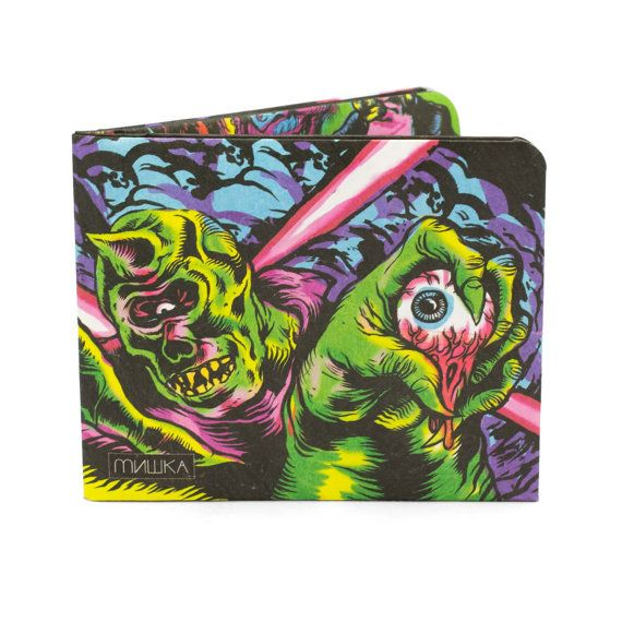 Paper-Thin Wallet Unisex for Men & Women - Warrior Monster Design by L'amour Supreme - Made in Tyvek - Eco-friendly and 100% Recyclable