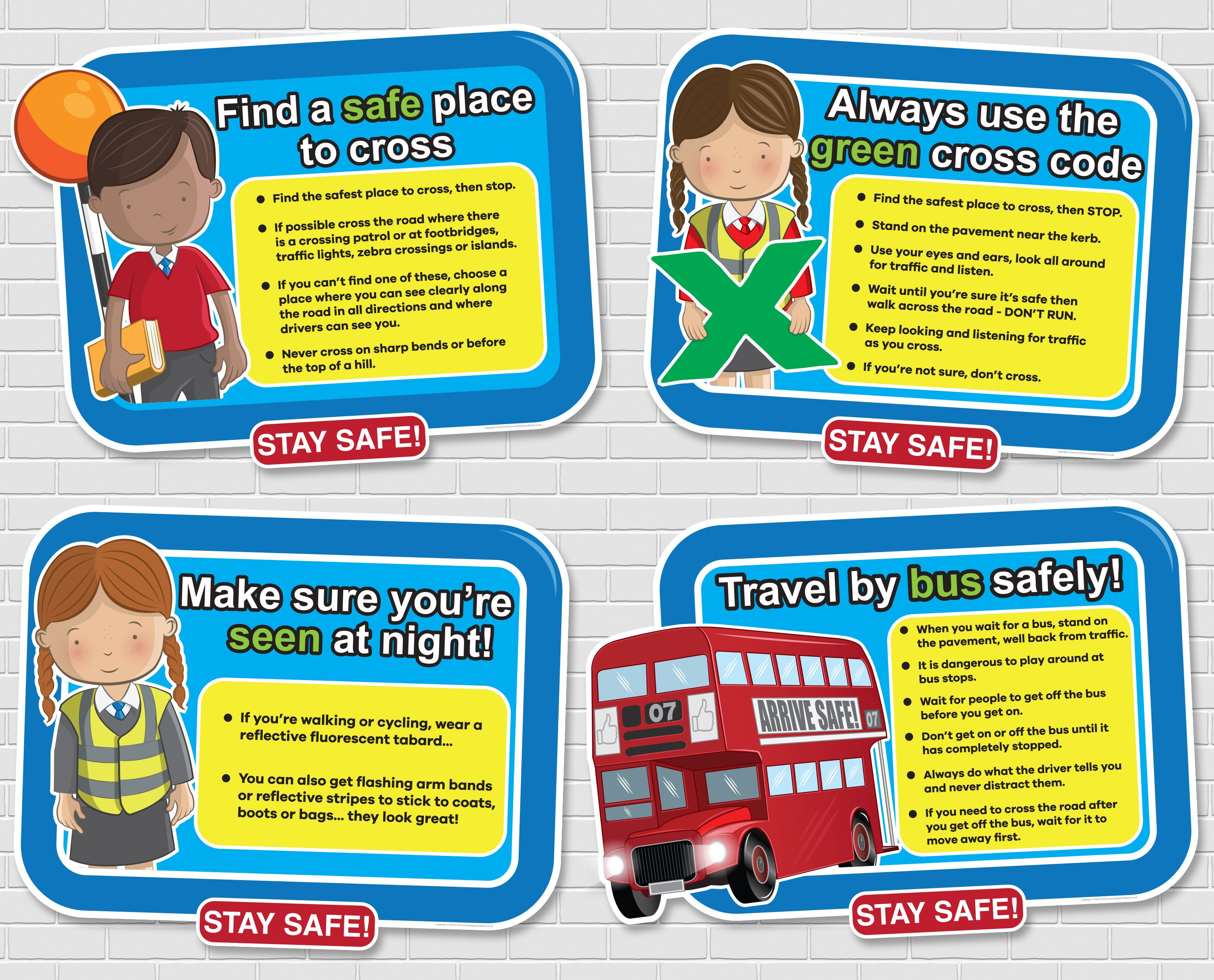 Stay Safe Signs Staying Safe Is So Important But Children