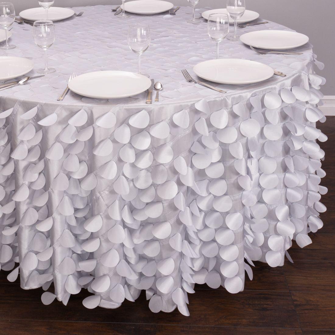 Wedding decoration ideas burgundy   in Round Petal Tablecloth Silver  Wedding Decoration Ideas