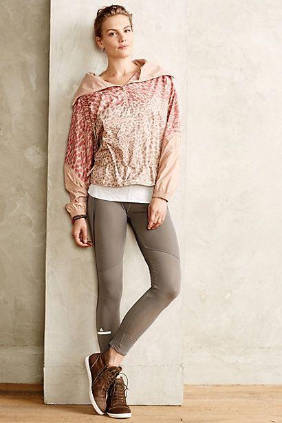 Adidas by Stella McCartney Zipper Fleece Running Tights #anthropologie
