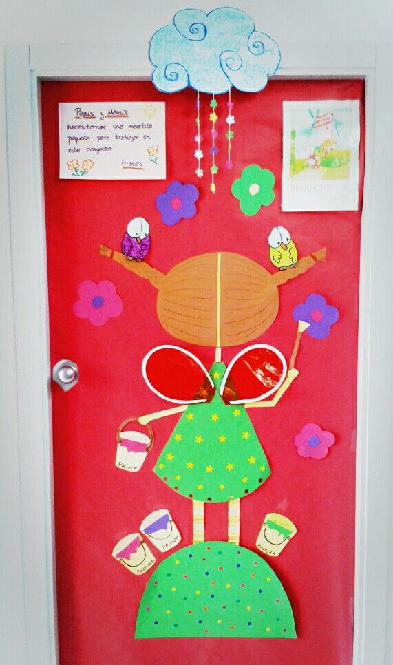 Puerta primavera portas pinterest primavera puertas for Puertas decoradas primavera