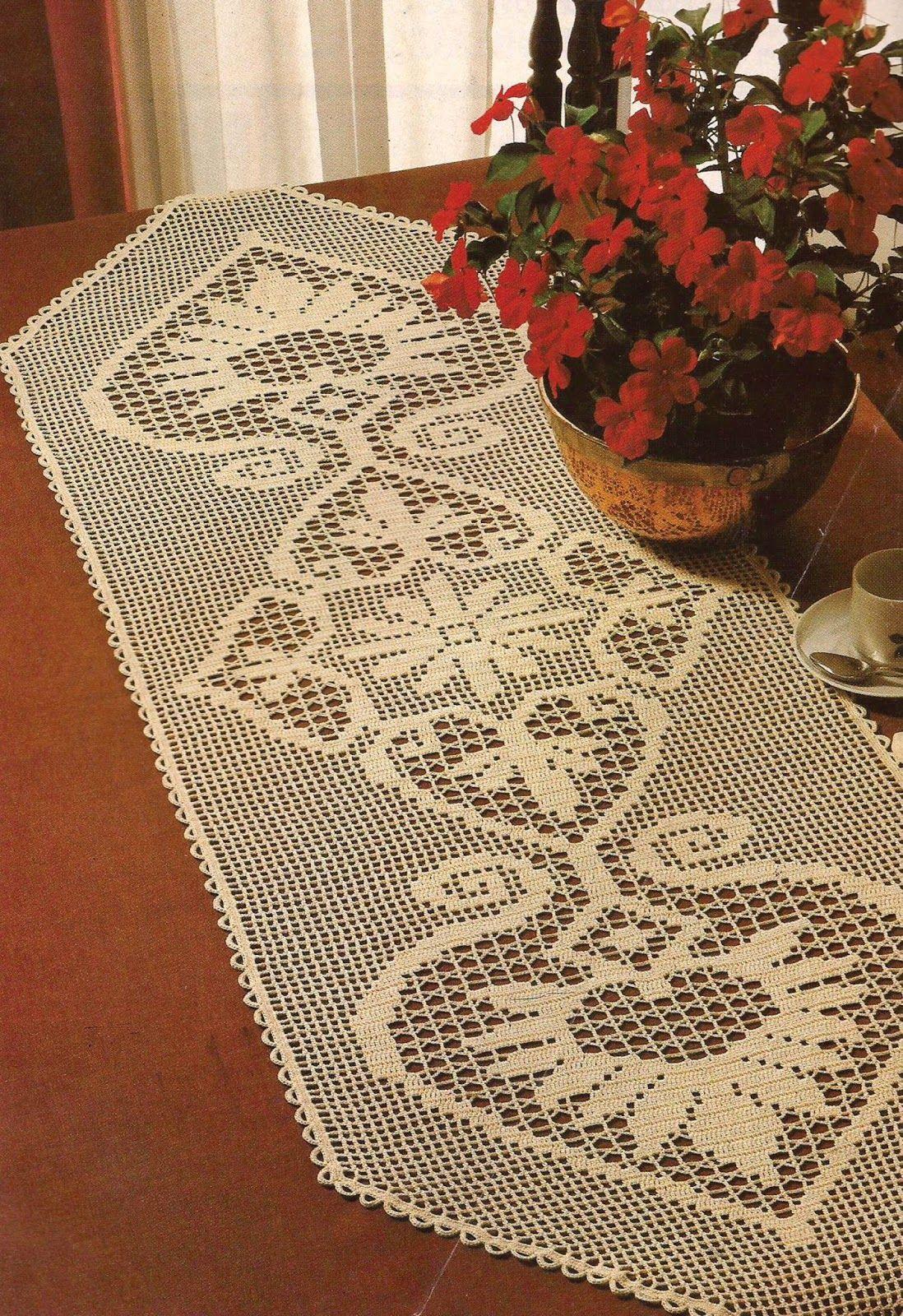 Camino de mesa caminos de mesa tejido pinterest - Centros de mesa de ganchillo ...
