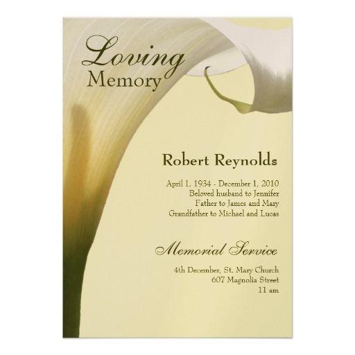 Print Your Own Memorial Cards Sample Funeral Memorial Cards