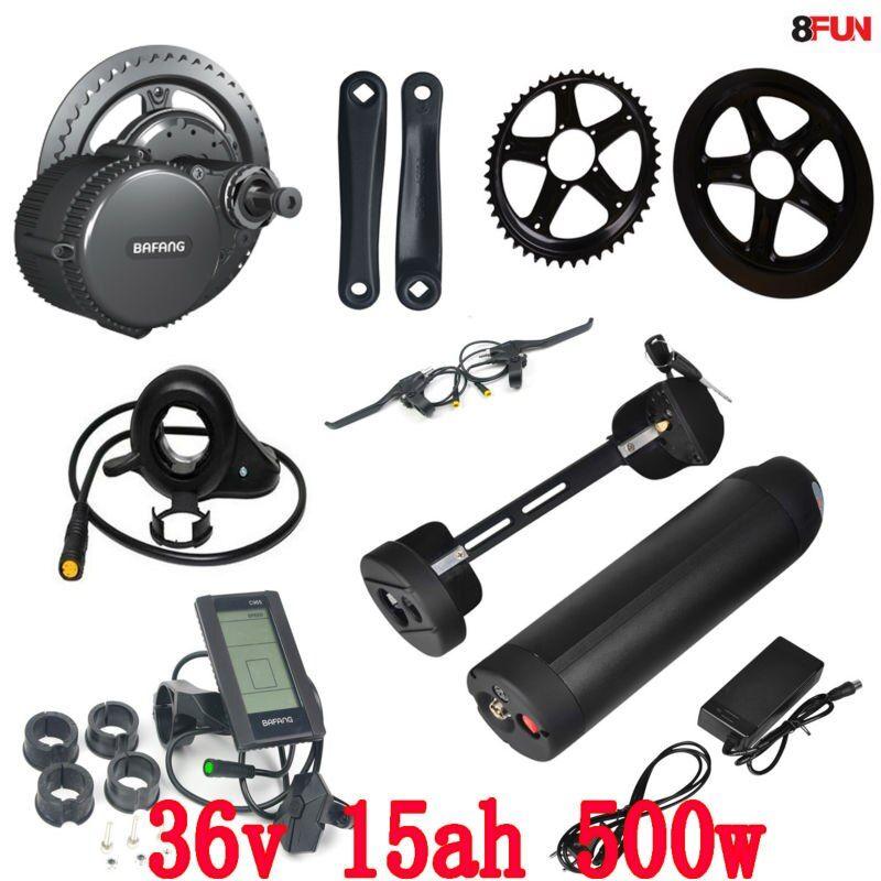 Free Shipping E Bike Kit 8fun Bafang 36v 500w Motor Wheel Bbs02