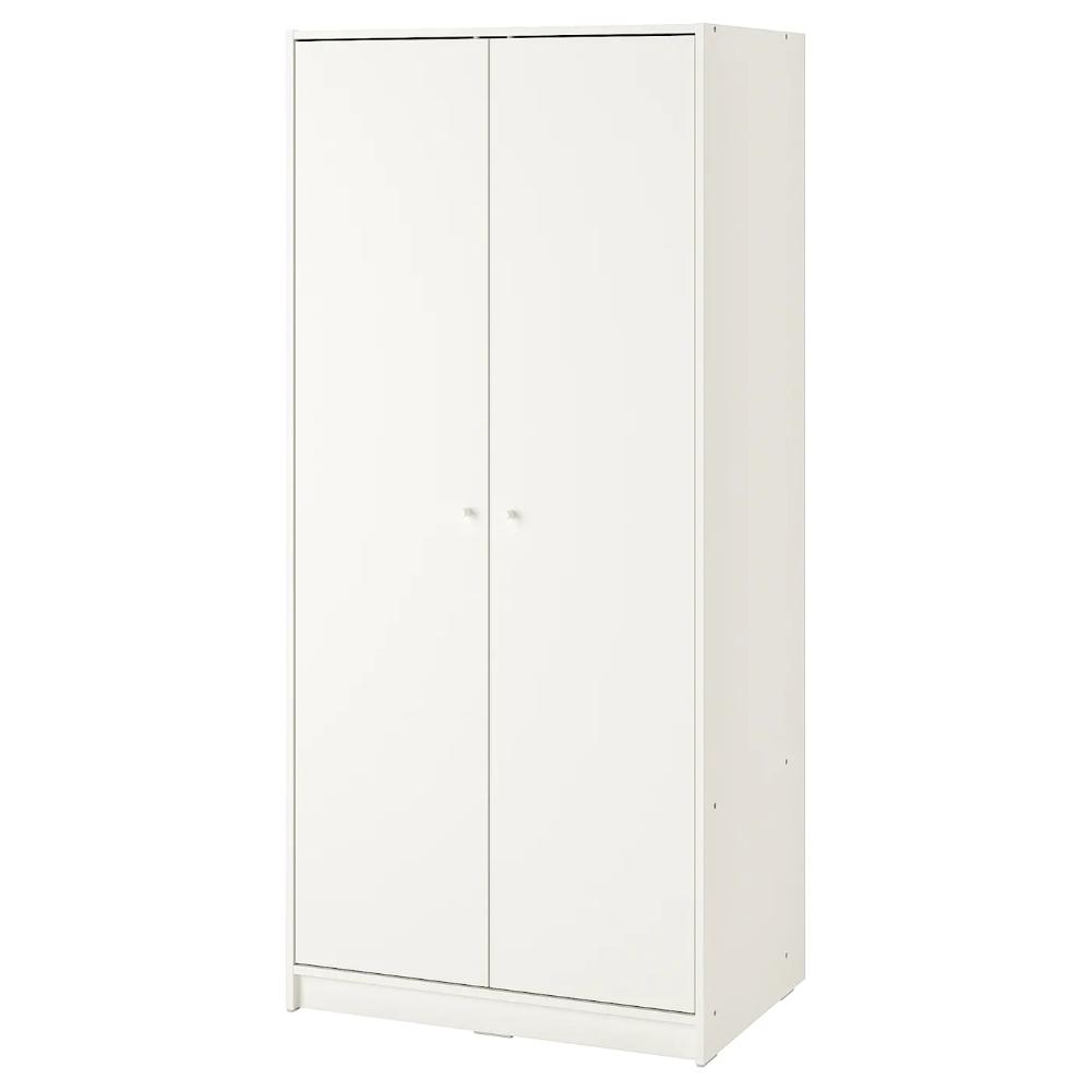 Ikea Armadio 2 Ante 2 Cassetti.Kleppstad Guardaroba Con 2 Ante Bianco 79x176 Cm Nel 2020