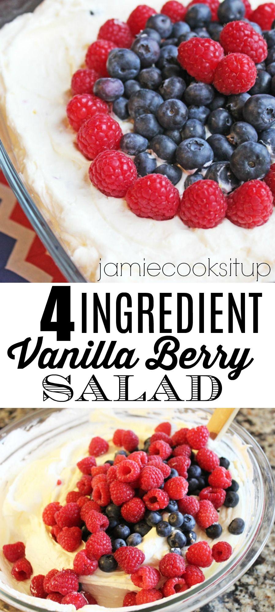Creamy Vanilla Berry Salad