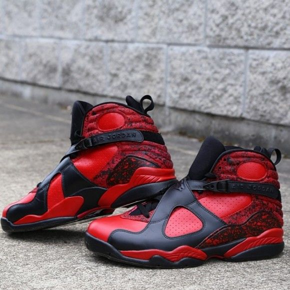 ee45430161a56d Air Jordan Retro 8  Bulls On Fire  Customs by Zadeh Kicks