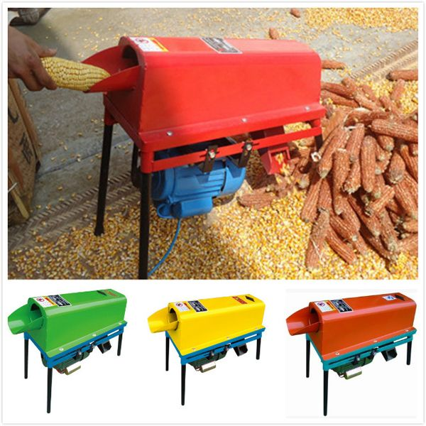 The threshing roller runs by the motor with a belt. When corn goes into the machine, it form the relatively rolling with the threshing roller .Under the friction with the grilled cylinder, the corn is threshed.  Skype:grainoilmachine;   Email:grain_oil@outlook.com