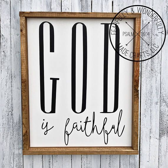 Bon God Is Faithful / God Is Good / Faith Home Decor / Faith Wall