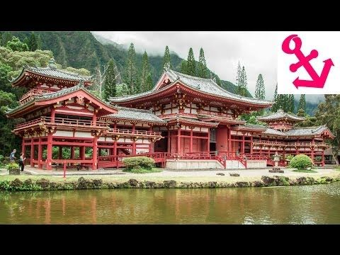 [FULL HD] The Byodo-In Temple in Oahu Hawaii Valley of the Temples