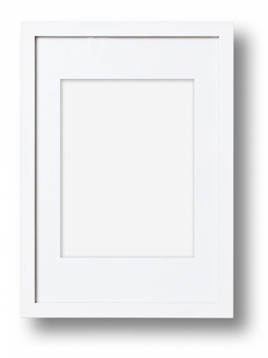 solid american frame white or black - White Wood Picture Frames