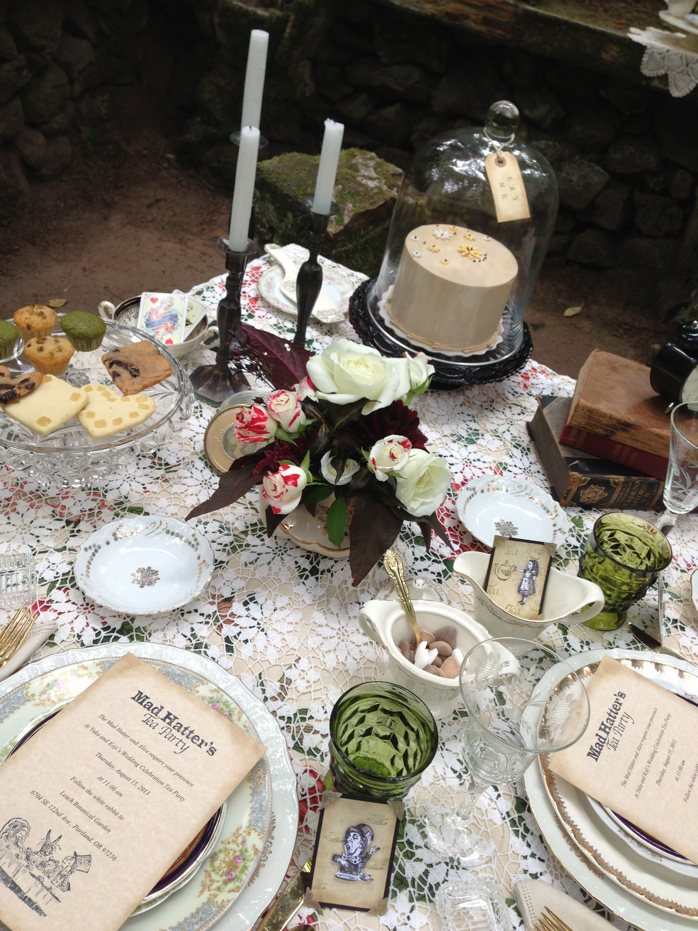 Alice In Wonderland Table Setting Birthday Party Table