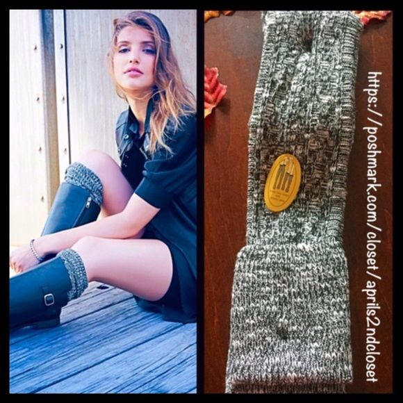 Luxurious Tall Over The Knee Boot Socks NEW WITH TAGS Luxurious Tall Over The Knee Boot Socks  * Super soft & cozy luxurious fabric w/textured detail; Winter weight warmth.  * Over the knee length hits at bottom of thigh w/ribbed cuffs  * Stretch-to-fit style;Tagged one size fits most *  Incredible quality.  Fabric: 98% Polyester & 2% Spandex Color: Black White Marled ***The texture on each pair may vary slightly.  No Trades ✅Offers Considered*/Bundle Discounts✅ *Please use the 'offer'…
