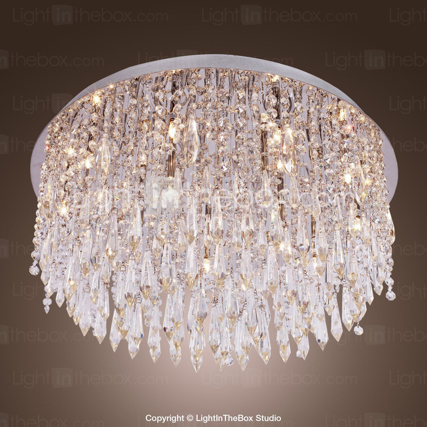 400 64 Sl 55 25 Crystal Flush Mount Lights Crystal Chrome Modern Contemporary 110 120v 220 240v G4 Flush Chandelier Modern Crystal Chandelier Cheap Ceiling Lights