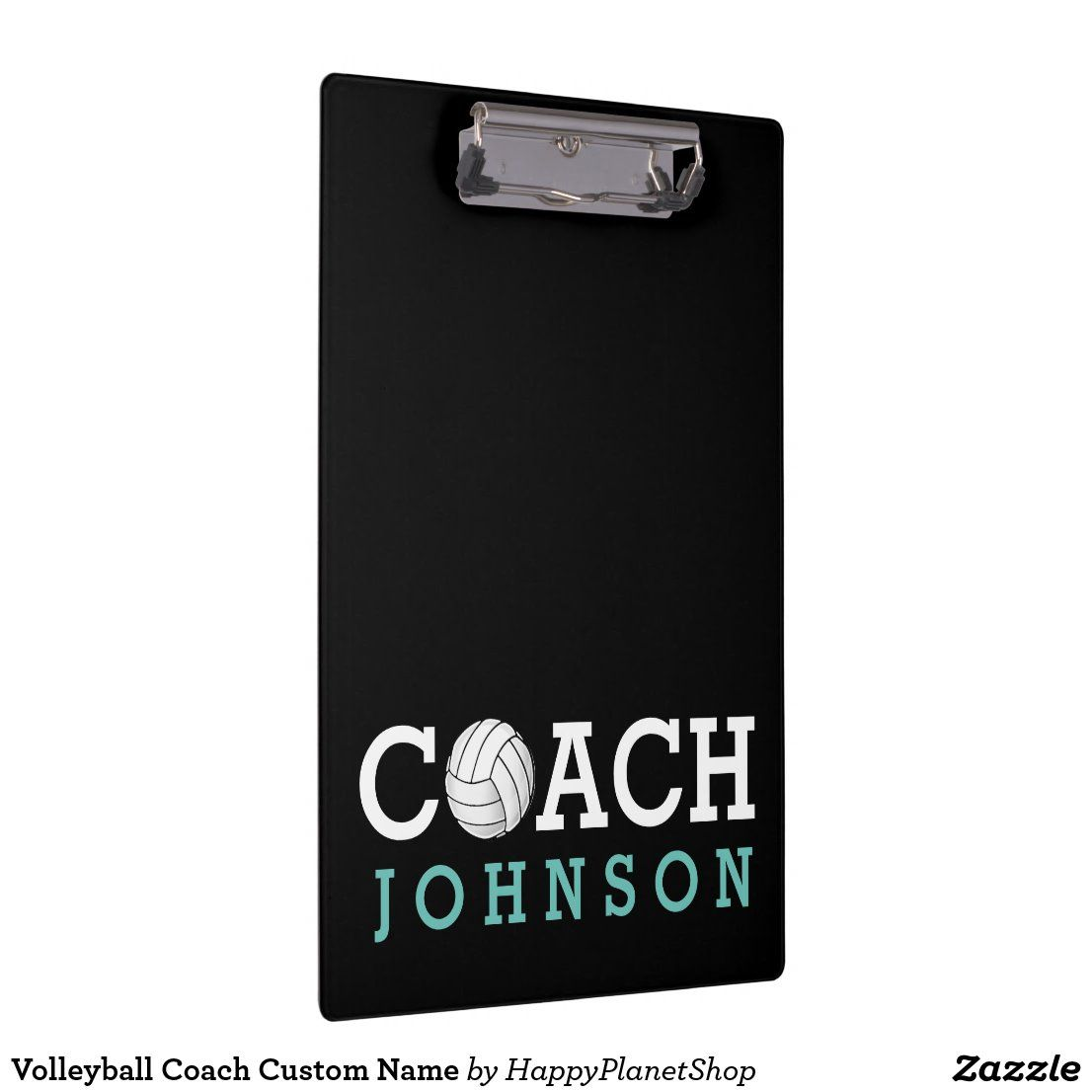 Volleyball Coach Custom Name Clipboard Zazzle Com In 2020 Coaching Volleyball Custom Clipboards Coach
