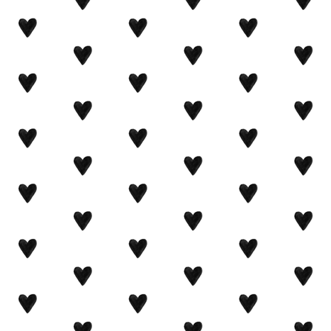 Colorful Fabrics Digitally Printed By Spoonflower Black And White Hearts White Heart Black And White Heart Pure White Background