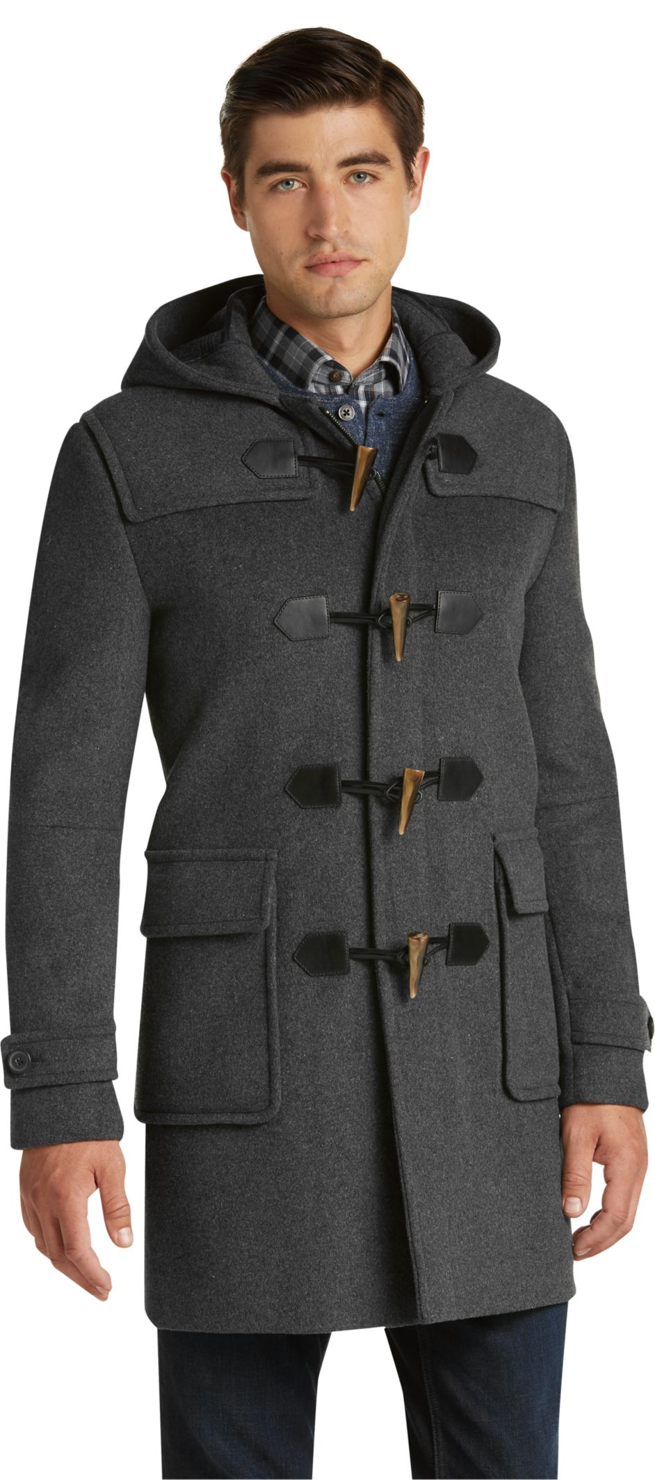 1905 Collection Tailored Fit 3/4 Length Duffle Coat - Big & Tall ...