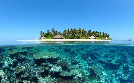 With 26 natural atolls or groups of coral islands, the Maldives, is a part  of an underwater mountain range that includes the Lakshadweep Islands and  the ...