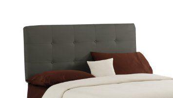 Amazon.com - Skyline Furniture King Button Tufted Headboard in Velvet Pewter - Fabric Headboard King