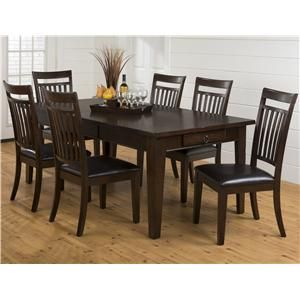 Legacy Oak Table and Chair Set that Seats Up To Six
