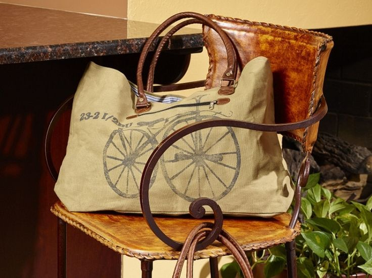 Here's a fun handbag to carry around while your out and about running errands. Our Bike Streeter Canvas Handbag is large enough for your everyday essentials plus a few extras. www.primitivestar... #canvashandbags