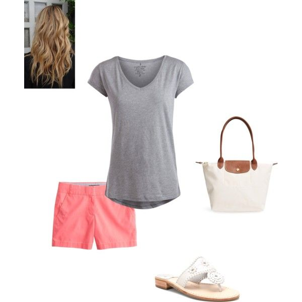Trip to the zoo by laineysue on Polyvore featuring polyvore, fashion, style, Pieces, J.Crew, Jack Rogers and Longchamp