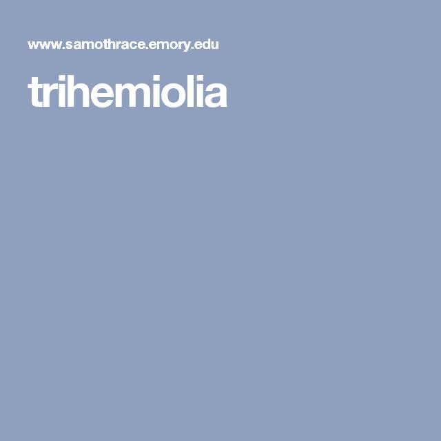 trihemiolia