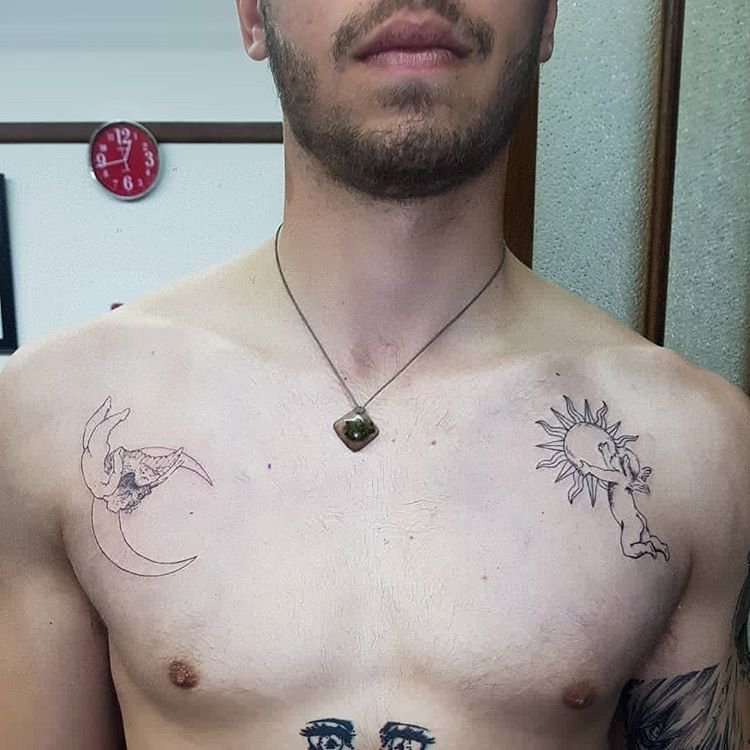 Minimalist Cherubs For Radu Mustata Thanks For Coming In Again Art Design Tattoos Tattoo Tattoodesig Cherub Tattoo Minimal Tattoo Fine Line Tattoos
