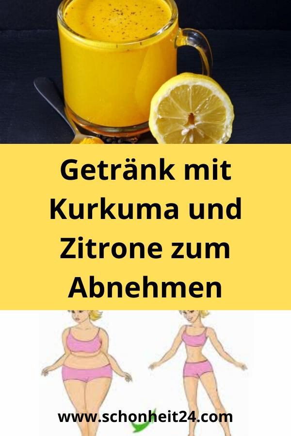 Getrank Mit Kurkuma Und Zitrone Zum Abnehmen Health Health Care Fitness