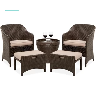 Small Conversation Sets 3 Piece Patio Sets You Ll Love In 2020 Wayfair In 2020 Outdoor Wicker 3 Piece Patio Set Furniture