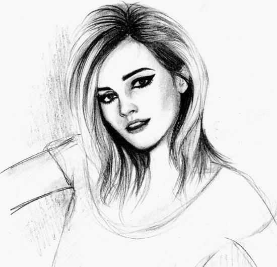 إبداع الرسم بقلم الرصاص منتديات دلع المشاعر Emma Watson Fan Portrait Drawing Emma Watson Images