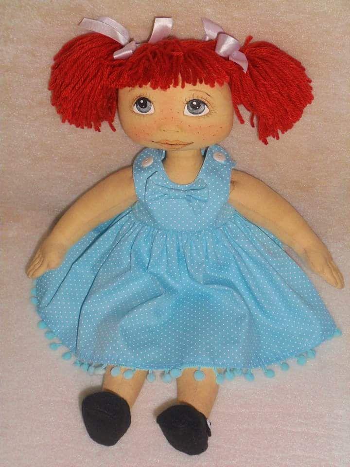 Patrón de muñeca pelirroja de tela | Muñecas de Tela | Pinterest ...
