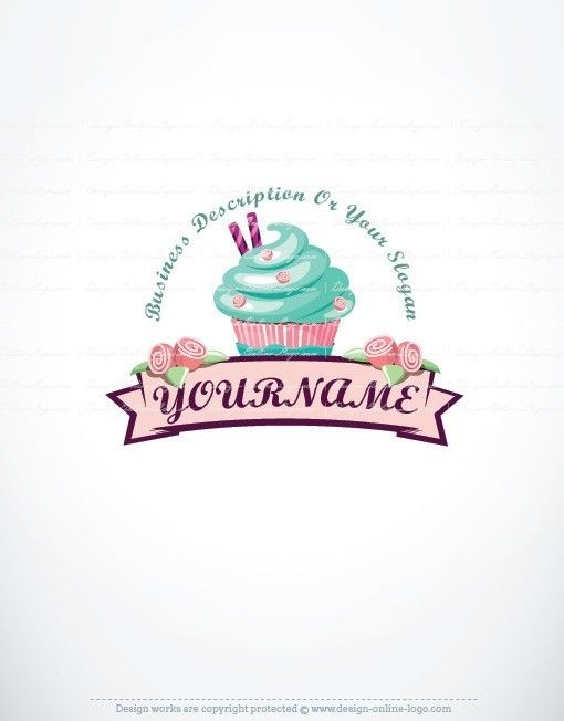 Exclusive design cup cake logo compatible free business card exclusive design cup cake logo compatible free business card reheart Images