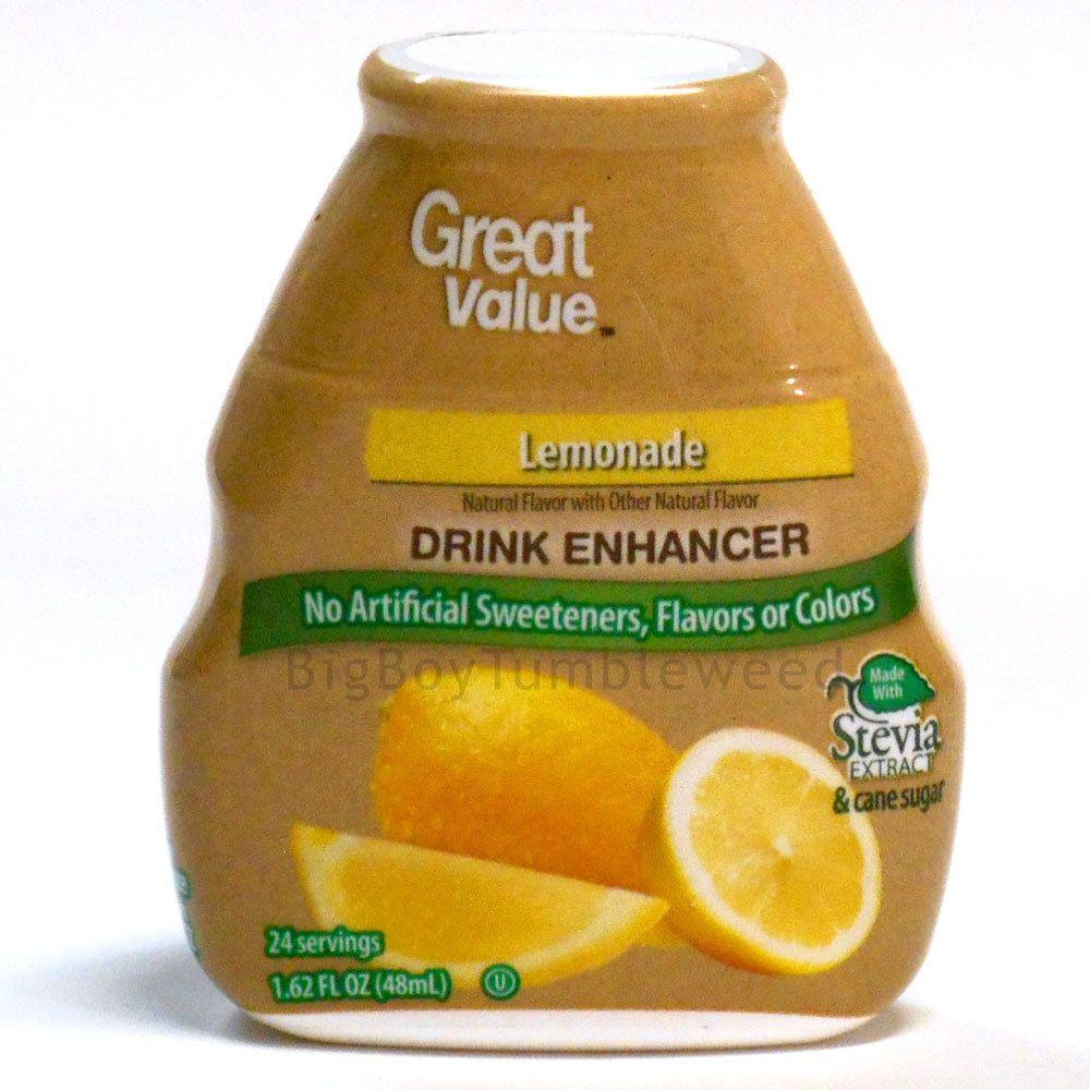 Great Value Lemonade Liquid Drink Mix Water Enhancer Stevia Sweetener Drops New Flavor Enhancers Flavored Drinks Flavored Water