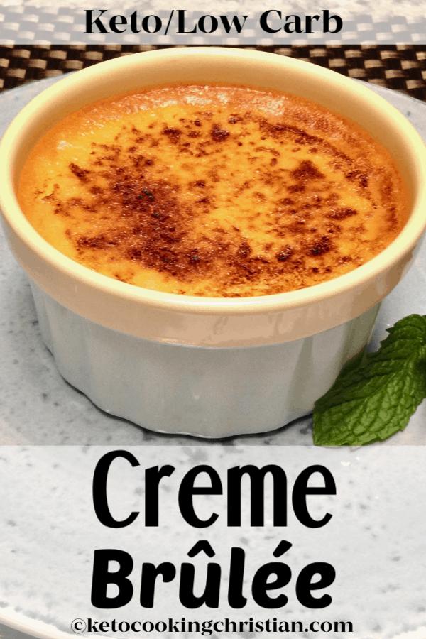Creme Brûlée - Keto, Low Carb & Sugar Free ClassicCreme Brûlée turned Keto! Creamy vanilla custard baked and brûléed with a sweet and crisp top!